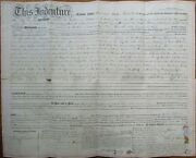Woodbury, Gloucester County, Nj 1859 Deed/indenture, Home And Land - New Jersey