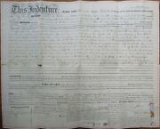 Woodbury Gloucester County Nj 1859 Deed/indenture Home And Land - New Jersey