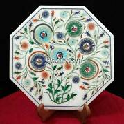 12'' Makrana New Design Natural Marble Inlaid Wall Plate/tile Decoration H3712