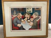 Beryl Cook Russian Tea Room, Limited Edition Signed And Framed Print