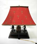 Fredick Cooper Metal Monkey Table Lamp With Shade
