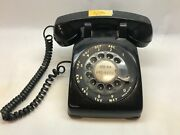 Vintage Black Rotary Phone From Illinois Bell 312 Area Code