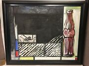 Large Modern Art Oil Painting Coca Cola Bottle With Black Frame