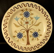 Baldelli Hand Decorated Plate Numbered 27 /436 Brown Blue 10.5 Excellent Italy