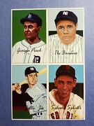 T. Williams Cobb Babe Ruth Dimaggio 1995 Panel Of 4 Jsw Baseball Cards