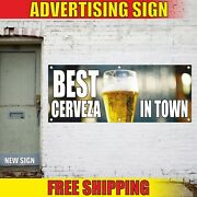 Best Cerveza Banner Advertising Vinyl Sign Flag Beer Cold Mexican Open In Town