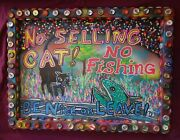 No Cat Selling Prostitution New Orleans Louisiana Outsider Folk Art By Dr. Bob