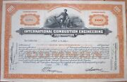 And039international Combustion Engineering Corporationand039 1932 Stock Certificate