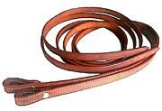 Lot Of 12 - Western Saddle Horse Medium Brown 7and039 Leather Split Reins - One Dozen