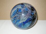 Astonishing 1985 Randy Strong Glass Paperweight 2+lbs Signed Label Artist Card