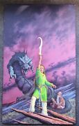 Romas Kukalis Book Cover Painting Sea Swords By Adrienne Martine-barnes Avon
