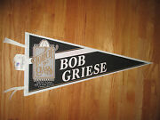 1990 Bob Griese Touch Of Class Miami Dolphins Hall Of Fame Induction 30 Pennant