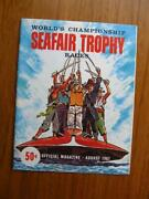 1961 Seafair Trophy Races Magazine Seattle Hydroplane Championship Racing Form