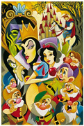 Disney Fine Art Limited Edition Canvas The Enchantment Of Snow White-rogerson