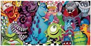 Disney Fine Art Limited Edition Canvas The Scariest Little Monster-monsters Inc