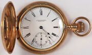 E. Howard And Co. Model Vii Pocket Watch 18 Size 14k Hunting - Working