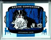 2018 U.d.goodwin Champions Canine Companions Patch/relic Cc196 Japanese Chin