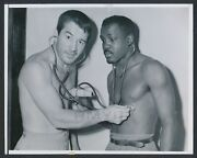 1950 Rocky Graziano, Clowns With Gene Burton Before Middleweight Bout Photo