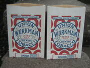 Vintage Union Workman Tobacco Pouches.... Free Sample Bags.....lot Of 2 Nos
