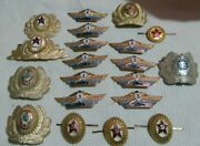 Lot Set Of Pin Badge Soviet Russian Russia Ussr Vintage 1970s  5084