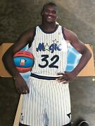 Vintage Shaq Oandrsquoneal 1993 Life Size Cutout Rare Hard To Find Piece