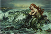 Disney Fine Art Limited Edition Canvas Drawn To The Shore-ariel-heather Edwards
