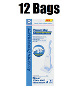 12 Hepa Vacuum Bags For Riccar Type A Vibrance 2000 And 4000 Upright Vacs