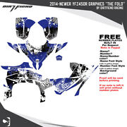 Yfz450r Graphics 2014-newer Dfr Fold Blue Sides Fenders Atv Decal
