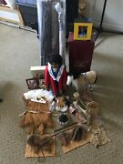 Retired American Girl Doll Kaya Lot With Books, Accessories, Horse, Extra Outfit