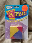 Binary Arts 4 Cube Puzzle Match Up Game 1998 New Sealed Brain Thinking Game