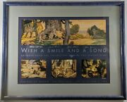 With A Smile And A Song Framed Snow White Limited Edition Lithograph Signed