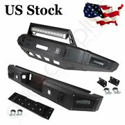 Front / Rear Bumper For Ford F150 2015-2017 Pickup Truck Steel Guard W Led Light