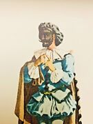 Vintage Color Lithograph Costume Print Of Beltrame 1613 By Maurice Sand 9