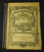 Nouvelle Geographie Primaire 1878 Antique French Geography School Book Illus Map