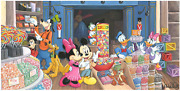 Disney Fine Art Limited Edition Canvas Candy Store-mickey/minnie-st. Laurent