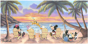 Disney Fine Art Limited Edition Canvas Beautiful Day At The Beach-mickey/minnie