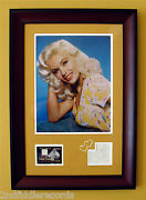 Jayne Mansfield-very Rare Autographed Framed Photo Display-actress-pinup-coa