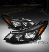 For 16 17 18 Chevy Cruze Replacement Headlights Headlamps Black Left+right Pair