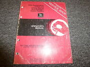 John Deere 7000 Conservation 4 And 6 Row Planter Owner Operator Manual Oma45513