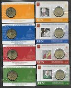 Vatican 2018 Pontificate His Holiness Pope Francis Stampandcoin Cards Set 18-21