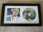 Jason Aldean Old Boots New Dirt Signed Autographed Framed Cd Display A