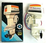 Mitsuwa Johnson 175 Type B Left Handed Rotation Toy Outboard Motor From Japan
