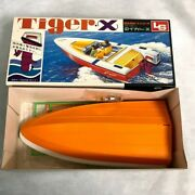 Ls Tiger X Toy Plastic Model Kit Boat Without Outboard Motor Made In Japan Rare
