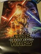 Star Wars The Force Awakens Jj Abrams Signed Autograph 36x24 Full Large Poster