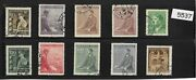 5537 Stamp Set / Third Reich / Adolph Hitler / Wwii Germany Protectorate
