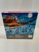 Hallmark Merry Christmas To All Jigsaw Puzzle 550 Santa Claus Reindeer Complete