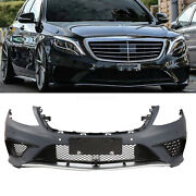 Fit Mercedes Benz S Class W222 13-16 S63 Amg Style Front Bumper W/ Pdc Molding