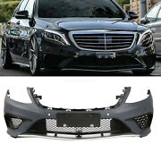 S63 Amg Style Front Bumper W/ Pdc Molding For Mercedes Benz S Class W222 13-16