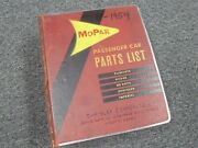 1951-1954 Dodge 6 Meadowbrook Parts Catalog Manual Deluxe 1952 1953