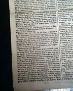Historic Great Fire Of London Medieval City Conflagration 1666 British Newspaper